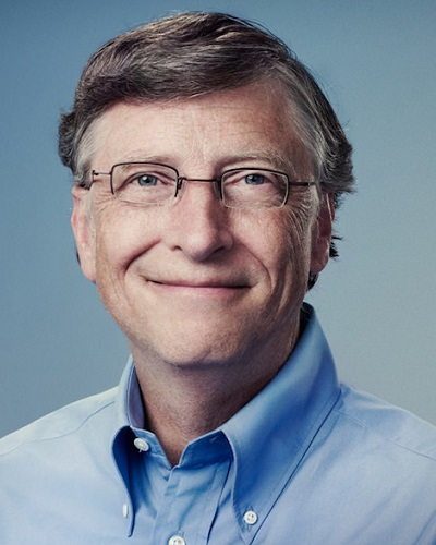 Head shot of Microsoft CEO and founder Bill Gates.