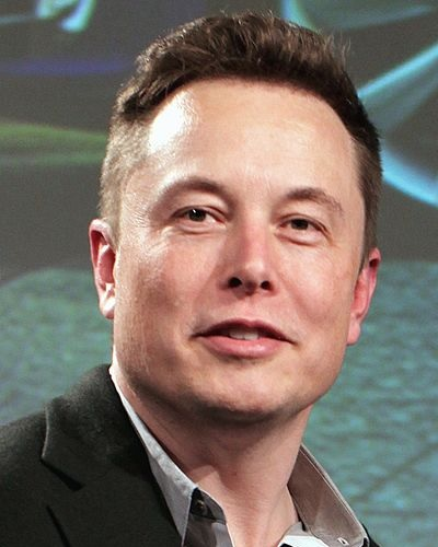 Head shot of Tesla CEO and founder Elon Musk.