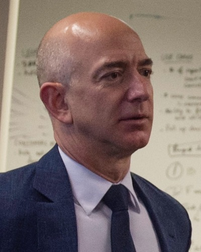 Head shot of Amazon CEO and founder Jeff Bezos.