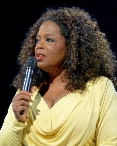 Oprah Winfrey speaking at event